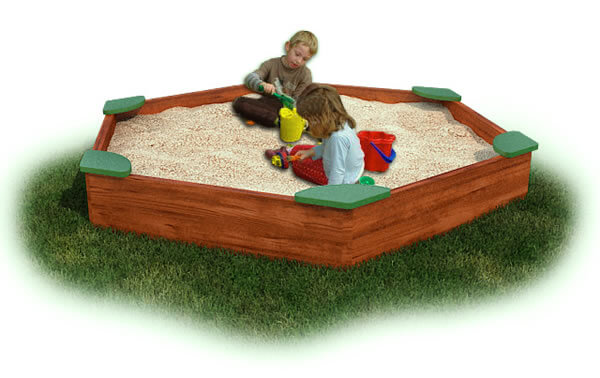Large Sandbox with Corner Seats - Cedar
