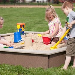 Sandbox, Large with Bench Seats
