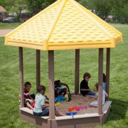 Sandbox, Large with Bench Seats, Roof Add-On