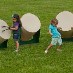 Drum, Large Set of 3