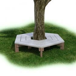 Wrap Around Tree Bench, Maintenance-Free Plastic