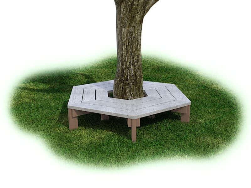 Wrap Around Tree Bench - Plastic