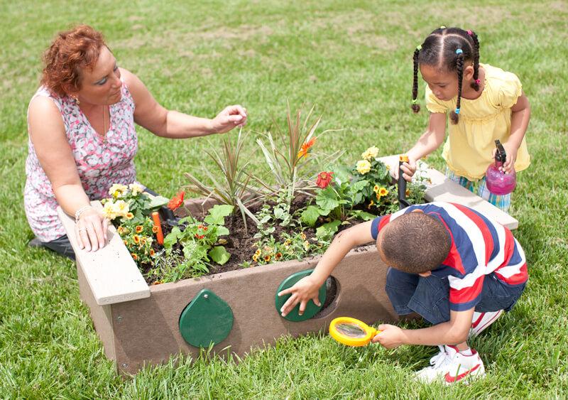 Garden Box with Peep Holes - Maintenance Free Plastic