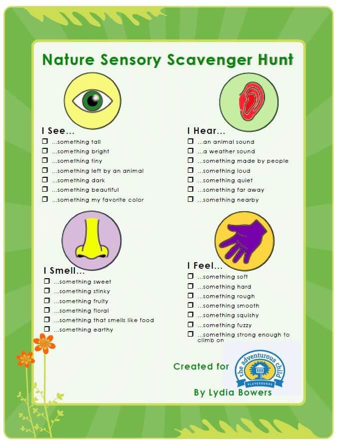 Sensory Scavenger Hunt The Adventurous Child