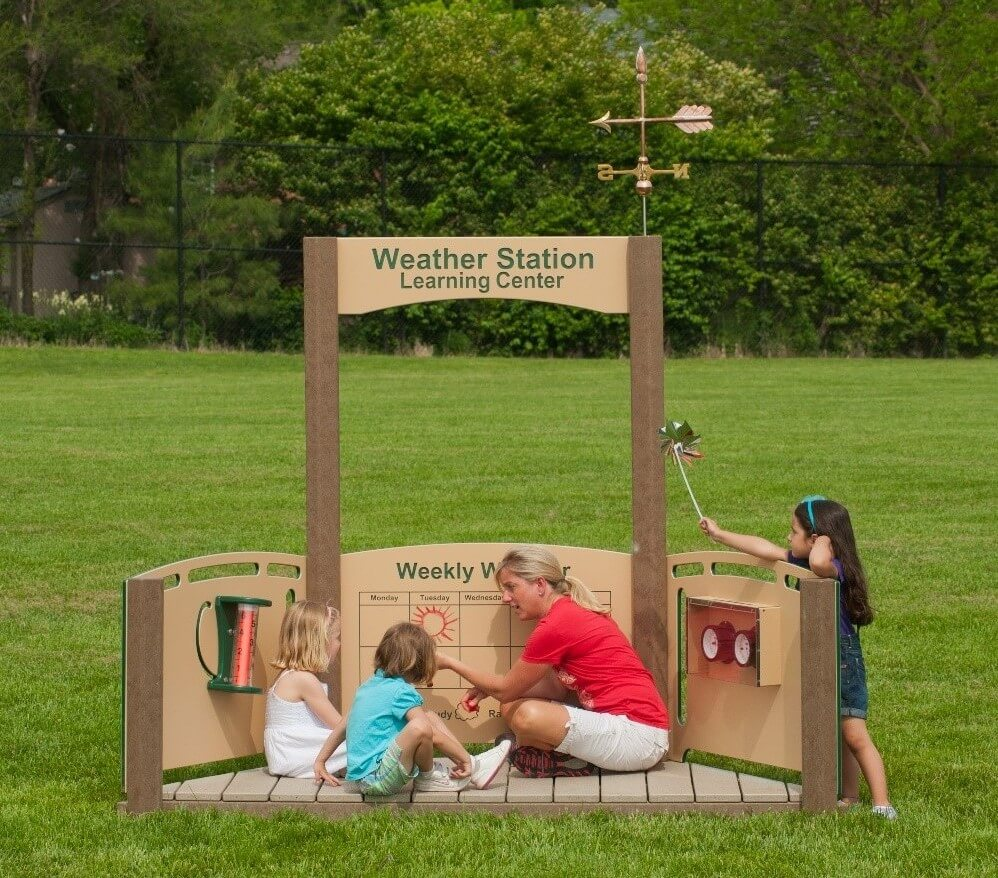 Outdoor Weather Station for Preschool Outdoor Classroom